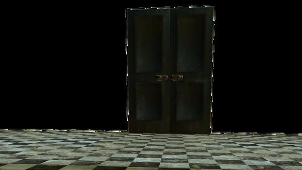 Grunge Floor and door cut-out