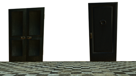 Grunge Floor and doors cut-out