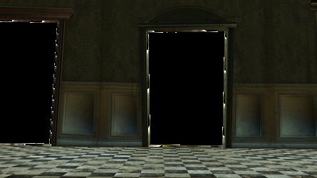 Cut-out Doorways, floor n wall