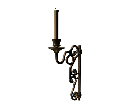 3D candlestick candle holder 1