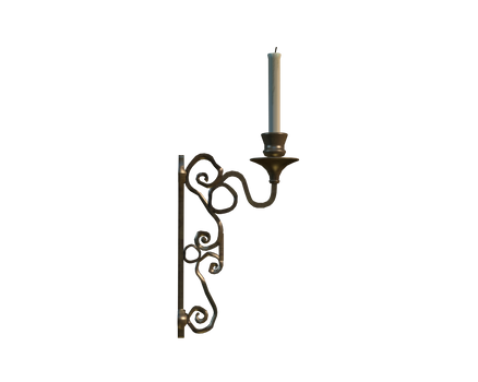 side of cut-out candle holder