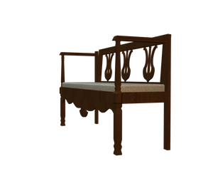 3d cut-out bench chair stock