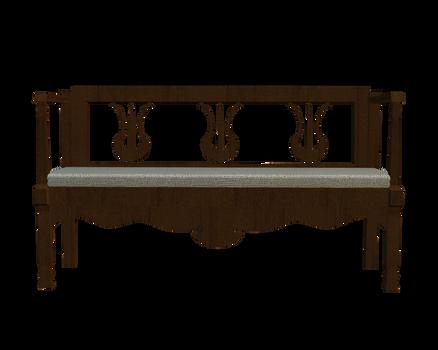 transparent bench front 3d png