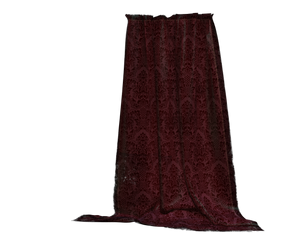 burgundy drapes curtains stock