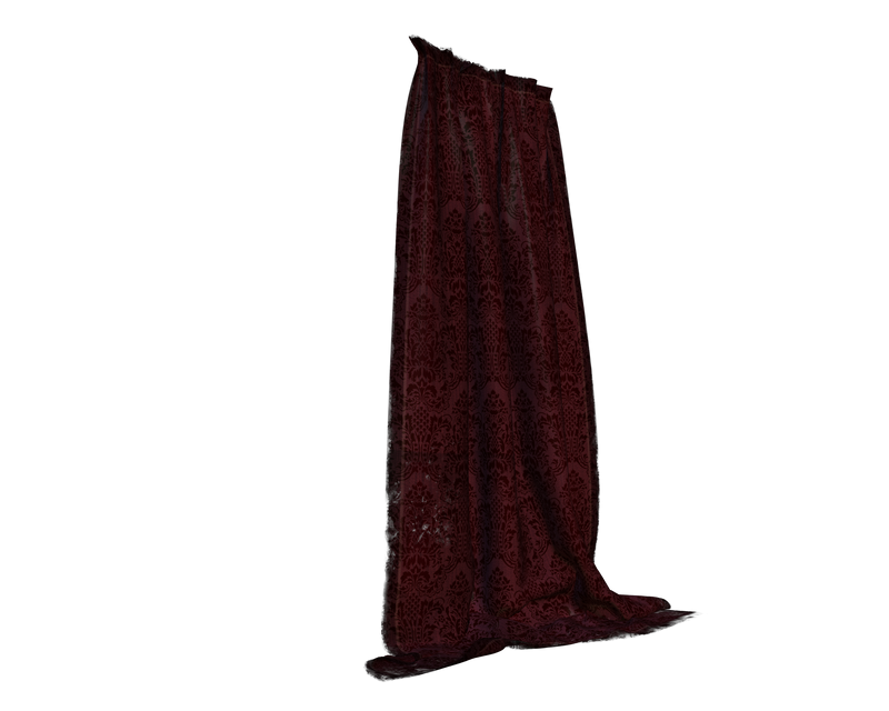 Deep Red Curtains Side Cut Out By Madetobeunique On Deviantart