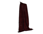 deep red curtains side cut-out