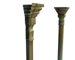 3d wall columns side png