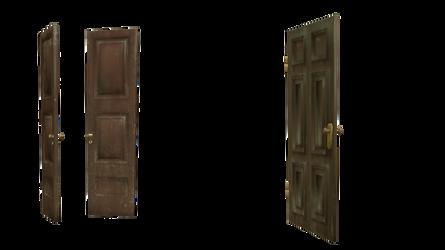 cut-out transparent doors 3d