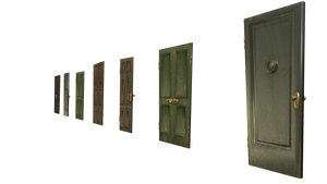 surreal door stock png cut-out