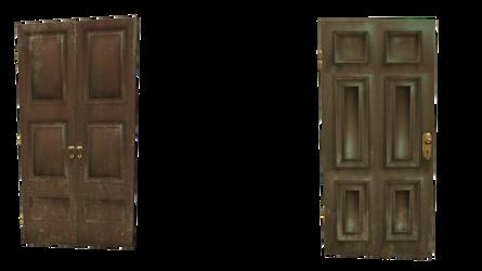 2 cutout doors transparent