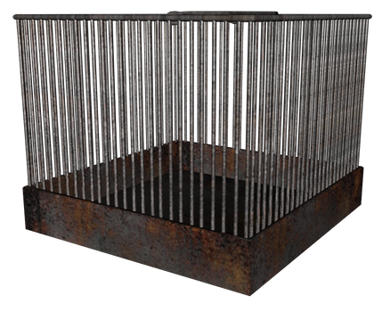 3d animal cage square png