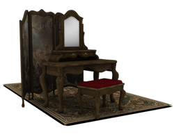 vanity dressing room set 3d by madetobeunique