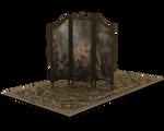 vanity dressing screen and rug