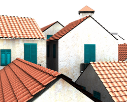3d houses cut-out roof tops by madetobeunique
