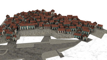 background cut-out town 3d png