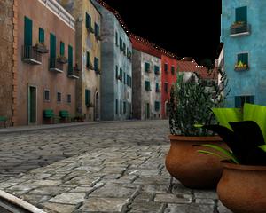 beautiful 3d background street