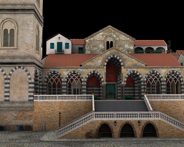 villiage church or town center
