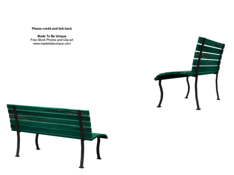 side of 3d green benches stock