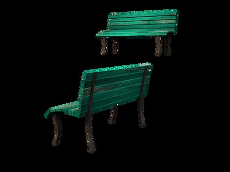 transparent bench seats stock