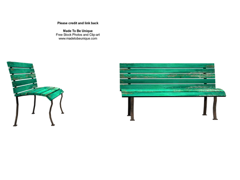 Sit with me green stock bench