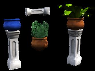 FREE Plants, Pots and Pillars