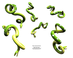 Bright Green Hanging Snakes by madetobeunique