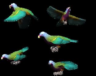 Unique Fruit Dove - Colorful by madetobeunique