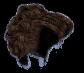 Stock Hair Images #4 side brown bun braid