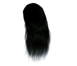 Stock Hair Images #2 long black front