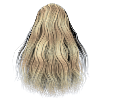 Free Stock Hair Images #2 full long blonde