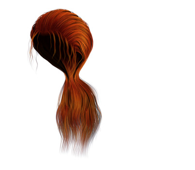 Free Stock Hair Images #1 red long ponytail