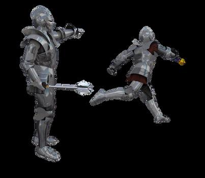 Kingdom Knight Poses #10 battle fighting armor