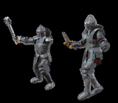 Kingdom Knight Poses #2 battle fighting armor