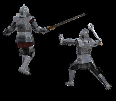 Kingdom Knight Poses #3 battle fighting armor