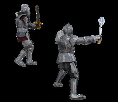 Kingdom Knight Poses #4 battle armor
