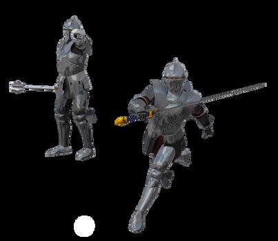 Kingdom Knight Poses n Costumes #8 running
