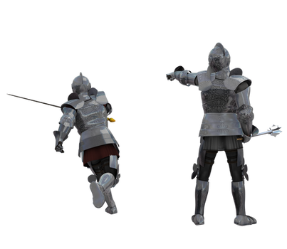Kingdom Knight Poses n Costumes #9 pointing