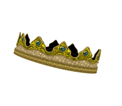 Kingdom Clothing #29 kings crown gold emerald 3d