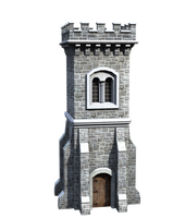Castle Stock Parts #17 front side tall watch tower by madetobeunique