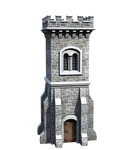 Castle Stock Parts #17 front side tall watch tower