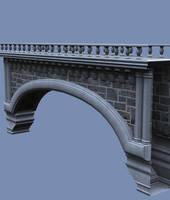 Castle Stock Parts #31 brick bridge crossing by madetobeunique