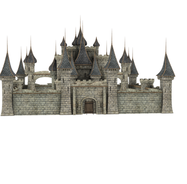 Castle Stock Parts #1 FANTASTIC full kingdom view by madetobeunique