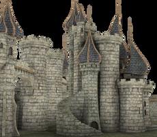 3d Fantasy Castle Stock Parts #28 Palace Kingdom by madetobeunique