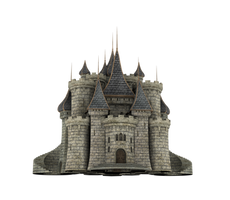 Fantasy Castle Stock Parts #31 Kingdom front gate by madetobeunique