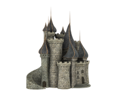 3d Fantasy Castle Stock Parts #32 front side by madetobeunique