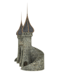 3d Fantasy Castle Stock Parts #8 pillar stairs