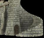 3d Fantasy Castle Stock Parts #9 brick stairs door