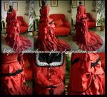 1800s Dress red rose