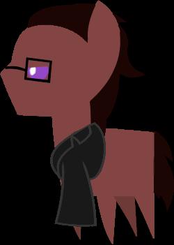 Pony Brawny Side view by Keychi-Fim