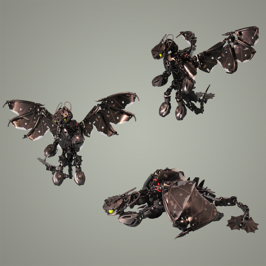Nightfury V2: Poses by retinence